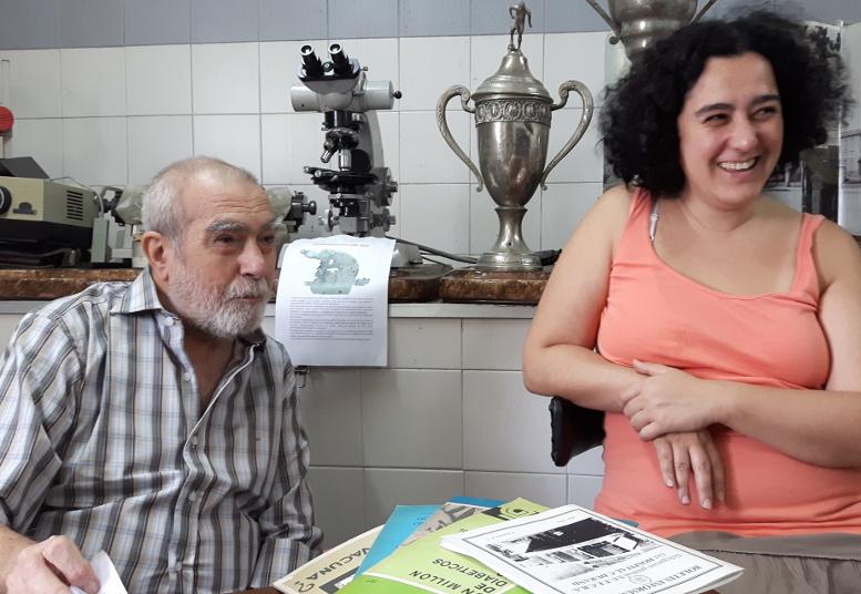 La Lic. Flavia Balbachán y el Dr. Oscar Balbachán, dos entusiastas que llevan adelante el Museo desde sus inicios.