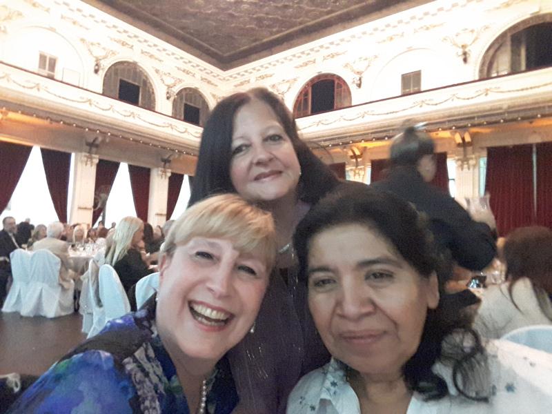 Susana Espósito, Margarita Barrientos y Marina Bussio
