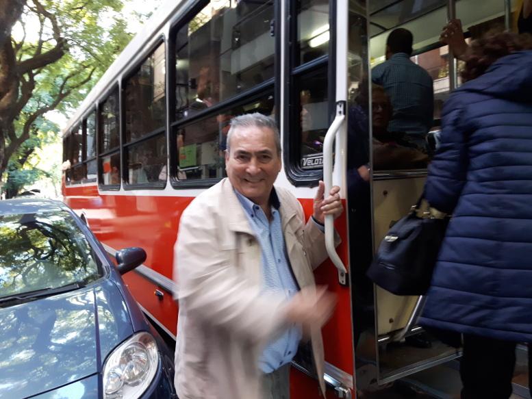 Arnaldo Goenaga, director del Periódico ABC, uno de los organizadores