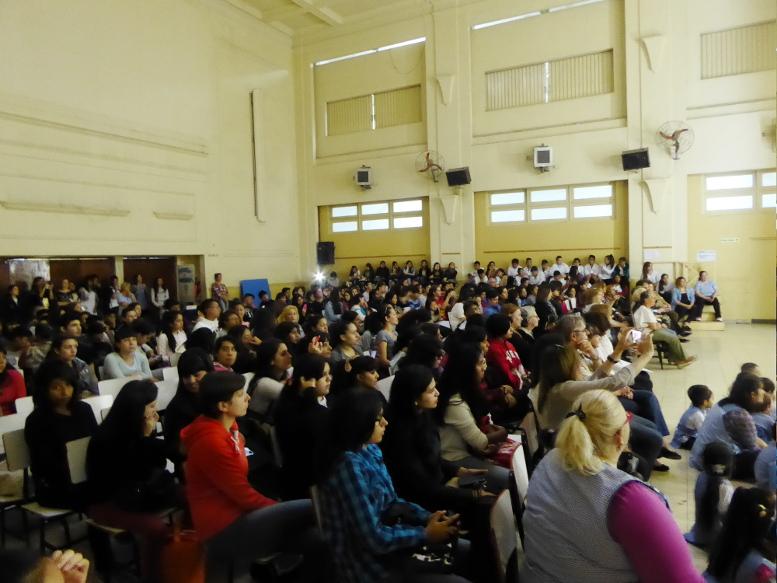Aspecto del Salón de Actos de la Escuela