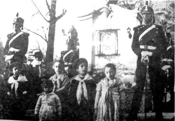 Acto de la inauguración de la imagen de la Virgen de Luján en mayo de 1969