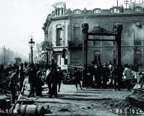 1914- Obras del Subte en Primera Junta