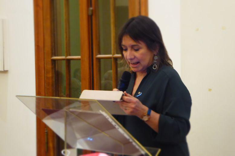 Julia Hernando, presidente del Centro Burgalés