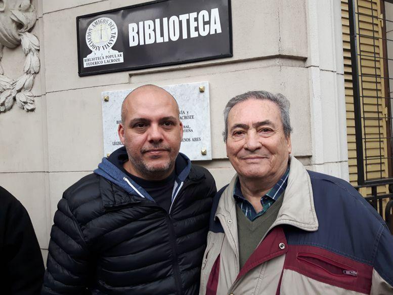 El legislador Claudio Heredia, autor de la Ley de declaración de Interés y Arnaldo Goenaga, promotor del proyecto.