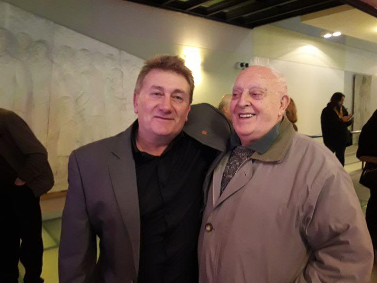 Darío Klehr y César Fioravanti, primer director de Museo.