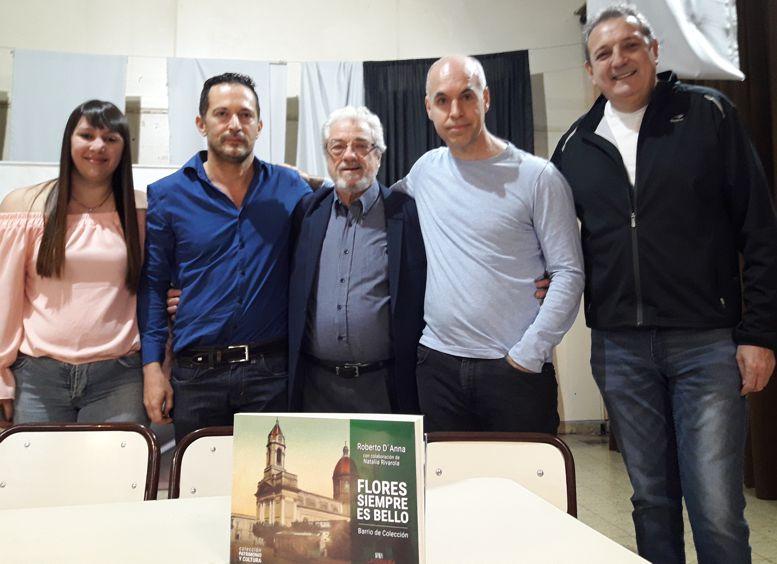 Con la visita del jefe de gobierno, Horacio Rodríguez Larreta y Guillermo Peña presidente de la Junta Comunal 7