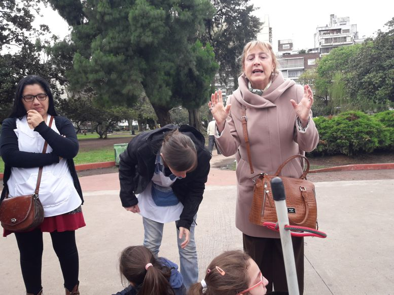 La comunera Susana Espósito acompañó la visita.