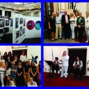 """En el Club Italiano se destaco la actuación del Grupo San Sebastián. También hubo una importante muestra de artistas plásicos y estuvo presente el Rotary Club """"La Veleta de Caballito""""."""