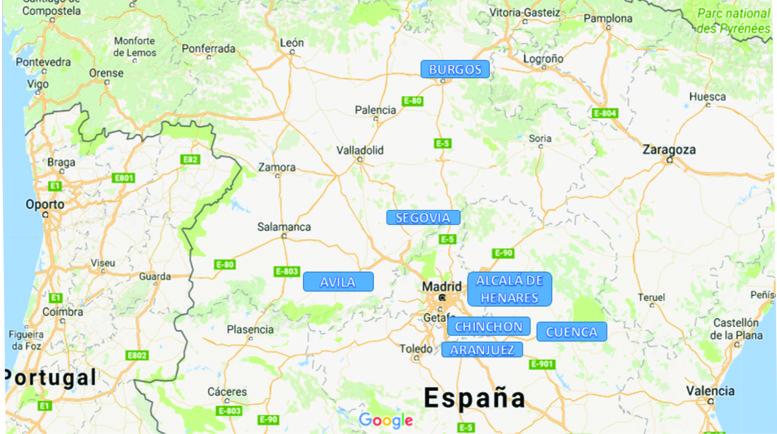La exposición estuvo referida a 7 ciudades próximas a Madrid.