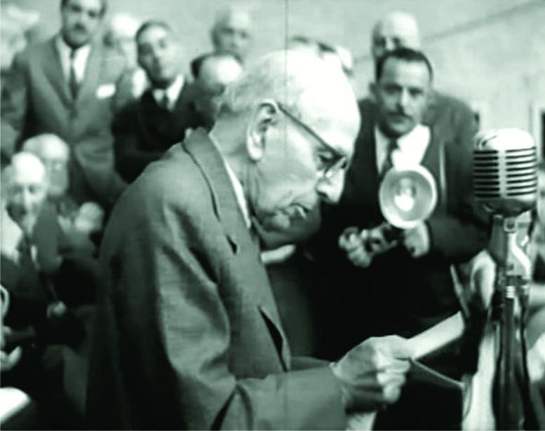 El Dr. Nicolas Repetto durante el discurso de inauguración del edificio-