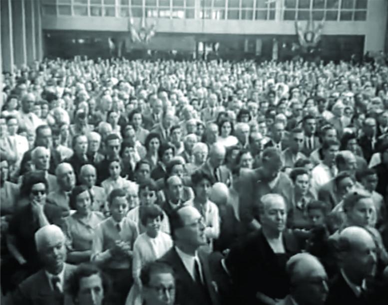 Acto de inauguración del edficio.