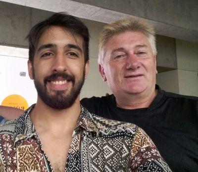 Roli Curten, de Horizonte, con el Profesor Darío Klehr.