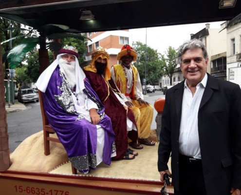 """Felipe """"Toto"""" Evangelista, promotor de la idea con los Reyes Magos."""