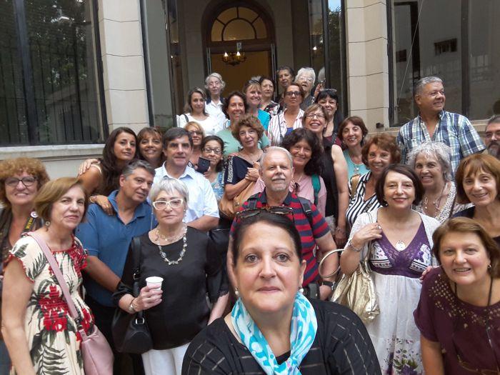 Parte del grupo que participó en la visita del 24 de febrero.
