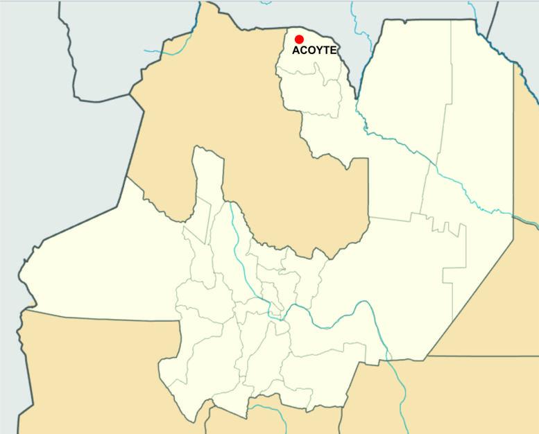 El pueblo de Acoyte hoy, con 111 habitantes.