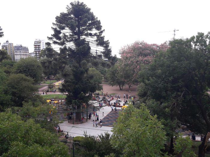 Vista del Parque Rivadavia desde el mirador.