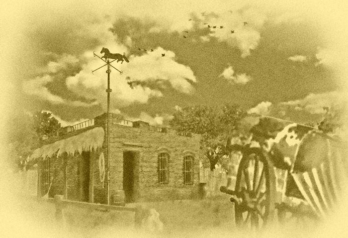 Pulpería de Caballito. (Obra de Héctor Núñez Castro)