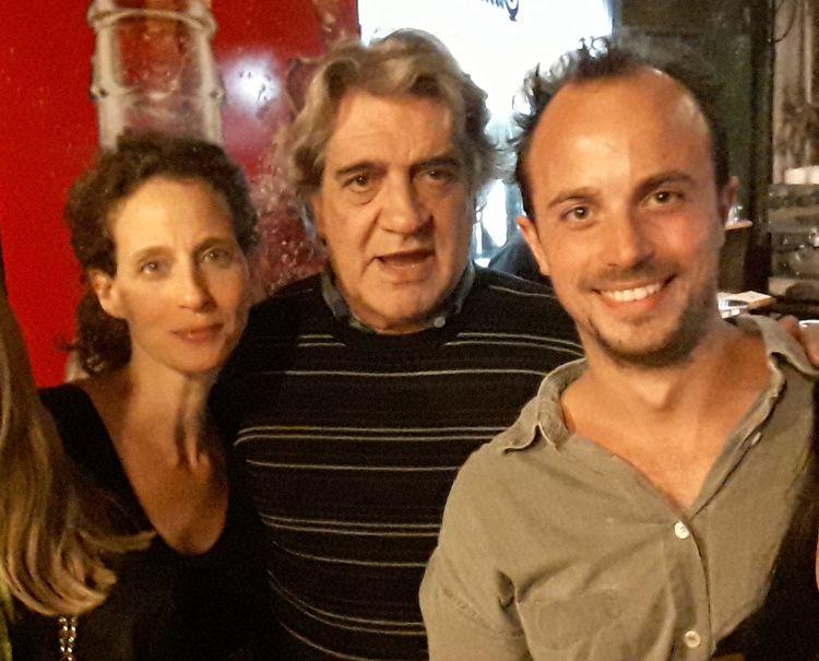 Con Toto Evangelista y la profesora Andrea Uchitel