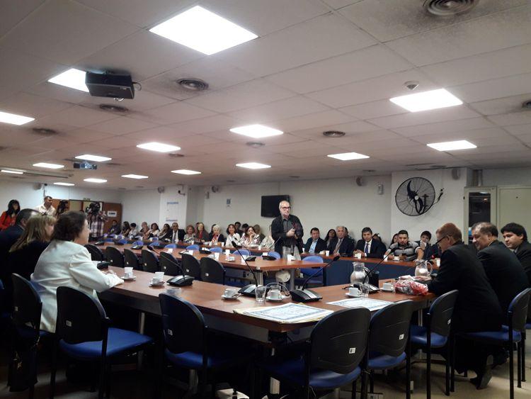Sala 1 del Anexo del Congreso de la Nación durante el evento.