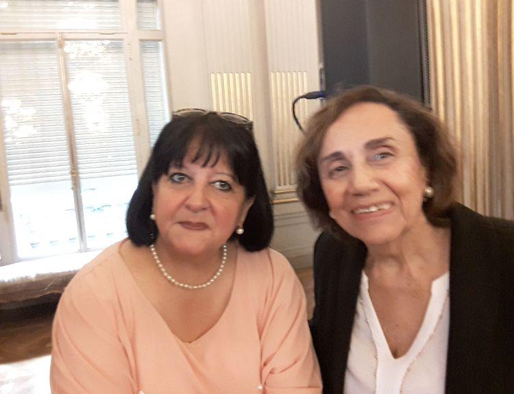 Marina Bussio (Revista Horizonte y Rochi Bianco (Asoc. Amigos Musdeo Perlotti)
