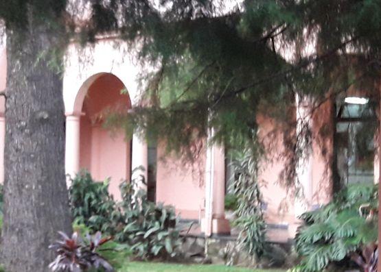 Jardines junto al templo de El Buen Pastor