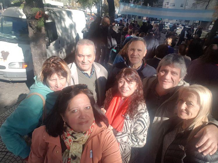 Plaza Primera Junta, los integrantes de la Red de Cultura en la celebración del 25 de Mayo y los 110 años de a plaza.
