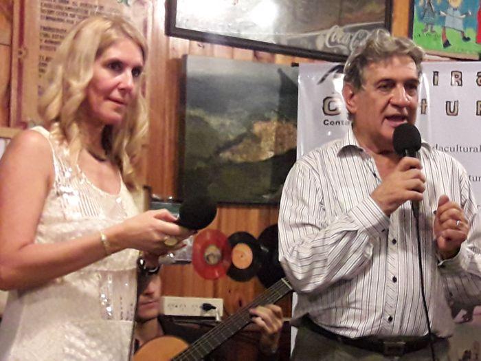 Lali Martínez y Toto Evangelista.