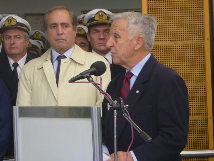 Presidente de la Asociación Amigos del Crucero General Belgrano, Pedro Galazi,