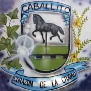 Mural del escudo de Caballito.
