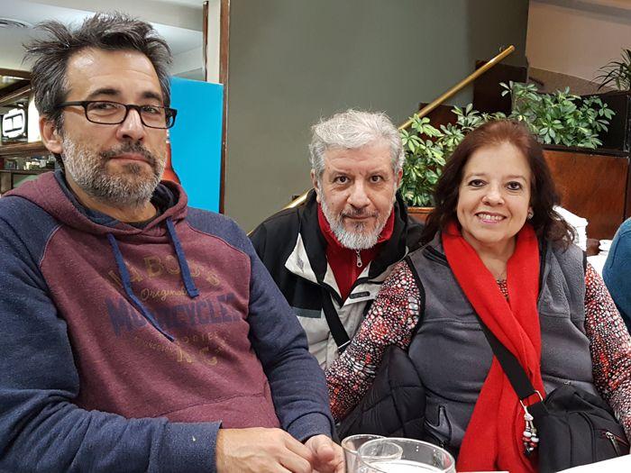 Federico Sánchez, de Periódico ABC, junto a Jorge Mercado y Juliana Alvarez.