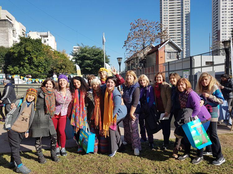 Integrantes del Centro Integral de la Mujer de Caballito.