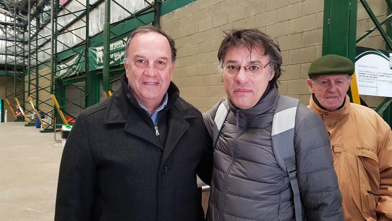 El presidente del Club FCO, Daniel Pandolfi con el Lic. Leonel Contreras.