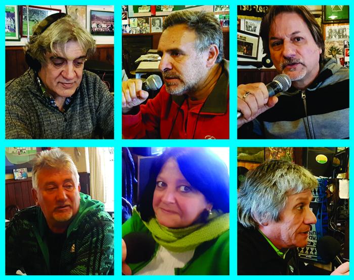 Integrantes de la Red de Cultura de Caballito en una emisión especial con motivo del Día de la Independencia.