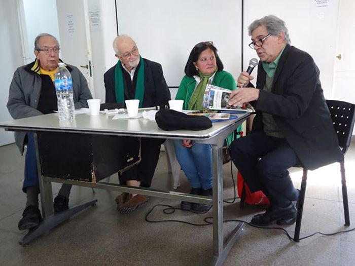 Aquilino González Podestá, Kely Contela, Marina Bussio y Felipe Evangelista.