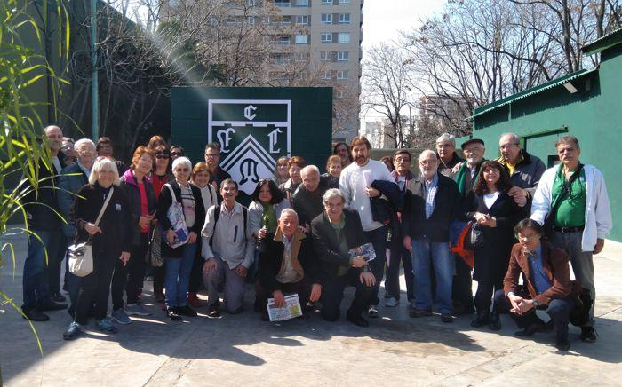 El grupo de visitantes con os organizadores.