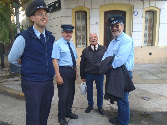 Los integrantes de la AAT dieron la bienvenida a los visitantes