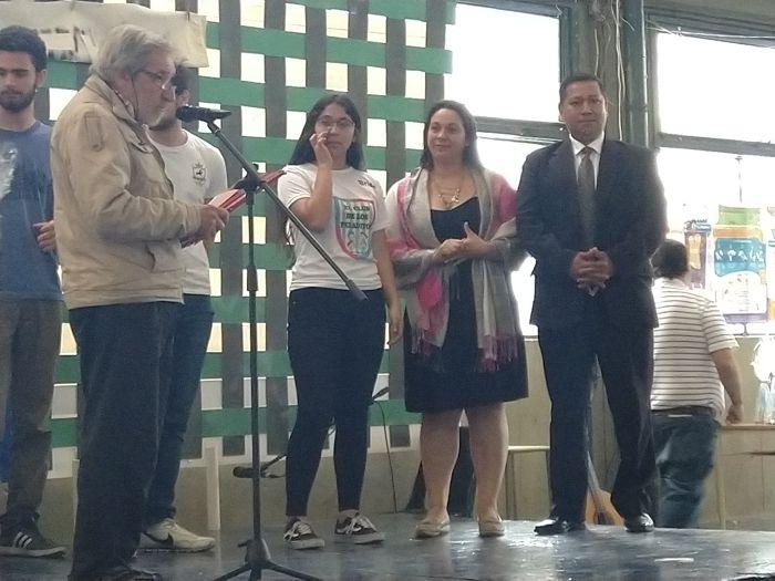 Homenaje a Rocío, alumna del colegio que falleció hace dos años.