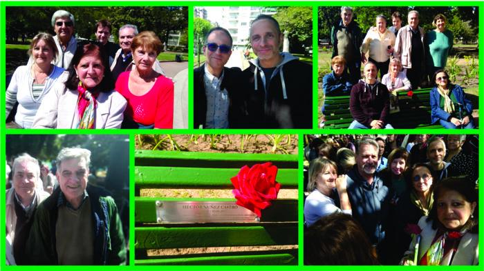 Amigos y familiares estuvieron presentes en el Parque Rivadavia recordando a Héctor.