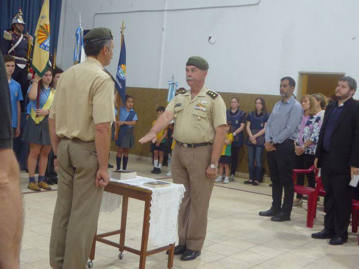 Jura en nuevo director, Coronel Claudio Antonio Testa.