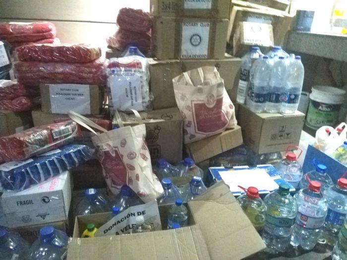 Parte de las donaciones fueron sumadas a la acción de Red Solidaria y a Rotary Club para los inundados.