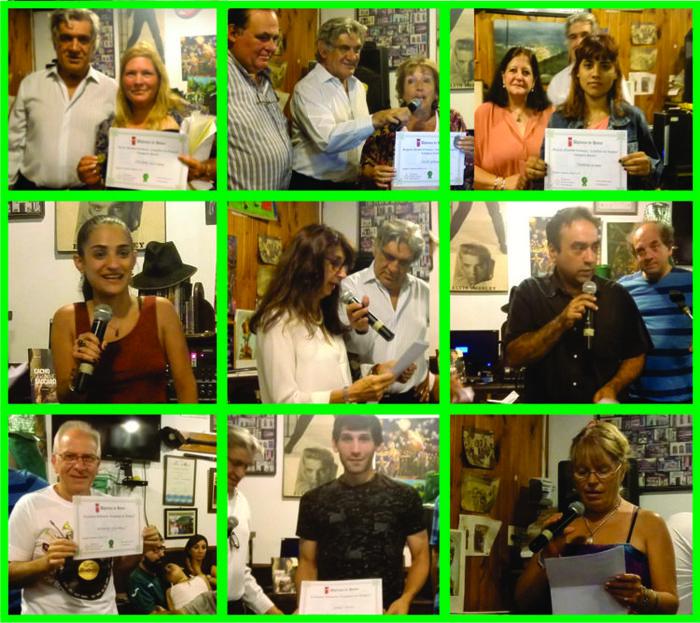 Todos los escritores participantes recibieron su diploma de reconocimiento.