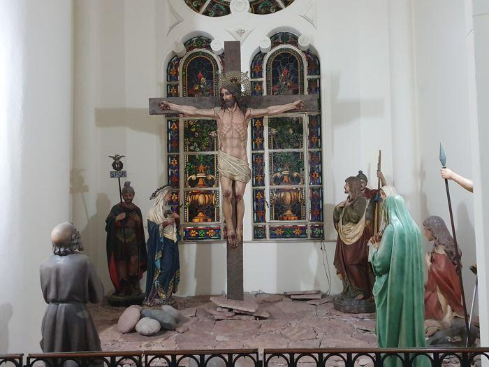 El Calvario en el primer piso de Nuestra Señora de Buenos Aires.