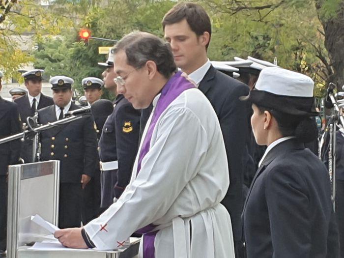 Presbítero Pablo Sebastián Vilca García, capellán del Hospital Naval.