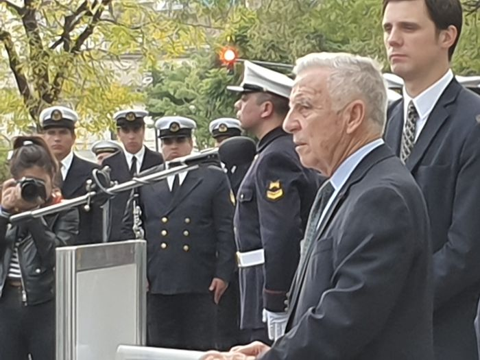 Presidente de la Asociación Amigos del Crucero General Belgrano, Capitán de Navío (RE) VGM Pedro Luis Galazzi.