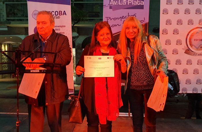 """Arnaldo Goenaga y Marina Bussio, directores de """"ABC"""" y """"Horizonte"""" reciben sus distinciones"""
