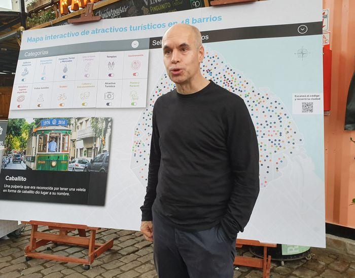 El jefe de gobierno, Horacio Rodríguez Larreta presentó el Programa Turismo en los Barrios
