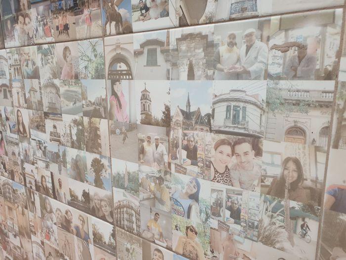Durante el evento se inauguró un mural de grandes dimensiones realizado con miles de pequeñas fotos.