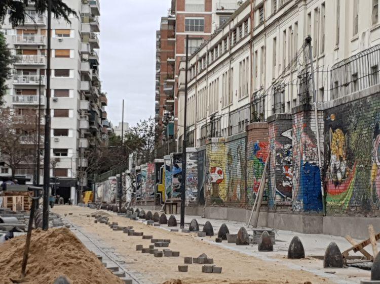 Obras de apertura de la calle Beauchef.