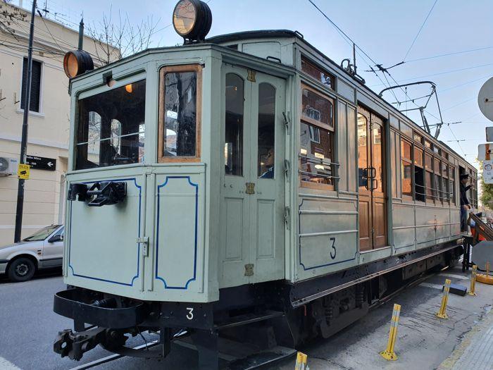 El histórico coche número 3 de subterráneo, una de las joyas de la flota.
