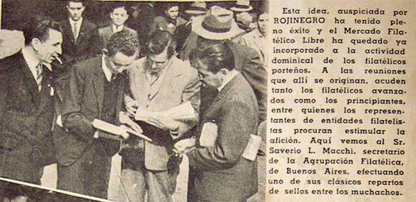 """Artículo y fotos de la Revista """"Rojinegro""""."""